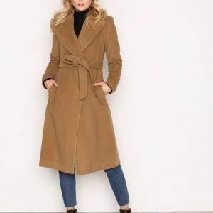 Lauren Ralph Lauren Wrap Wool Coat Pitkä Takki Camel