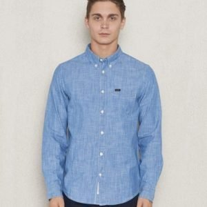 Lee Button Down Shirt Blue Ice
