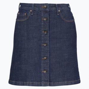 Lee Button Through Skirt Farkkuhame Slim Fit