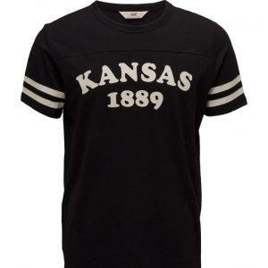 Lee Jeans Kansas Tee Black lyhythihainen t-paita