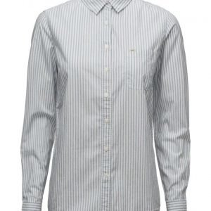 Lee Jeans One Pocket Shirt White Canvas pitkähihainen paita