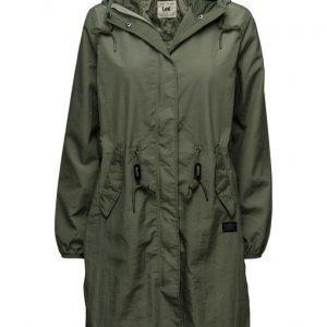 Lee Jeans Rain Jacket Military Green kevyt päällystakki