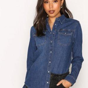 Lee Jeans Relaxed Western Kauluspaita Mid Blue