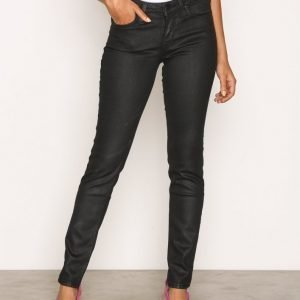 Lee Jeans Scarlett Coated Black Skinny Farkut Black Coat