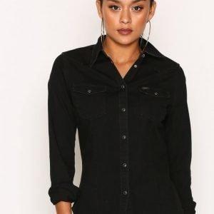Lee Jeans Slim Western Bleecker Kauluspaita Black