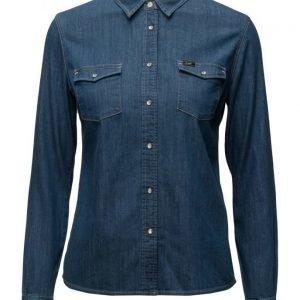 Lee Jeans Slim Western Ministripe pitkähihainen paita