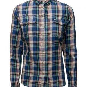 Lee Jeans Slim Western Workwear Blue pitkähihainen paita