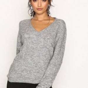 Lee Jeans V-Neck Knit Neulepusero Grey Melange