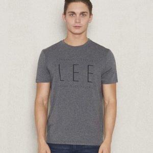 Lee Logo Tee Dark Greymelange