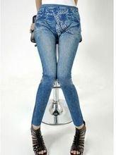 Leopard scarf belt blue jeans print leggings