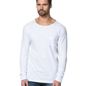Les Deux Long Pocket Tee White