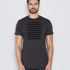 Les Deux Stanford Stripe Tee Dark Grey