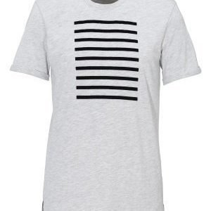 Les Deux Stanford Stripes Tee Snow Melange