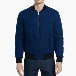 Levis Made & Crafted Bomber Jacket Quilted Indigo Mountains