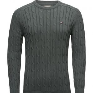 Lexington Company Andrew Cotton Cable Sweater pyöreäaukkoinen neule