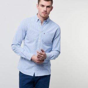 Lexington Kyle Oxford Shirt Blue/White Stripe