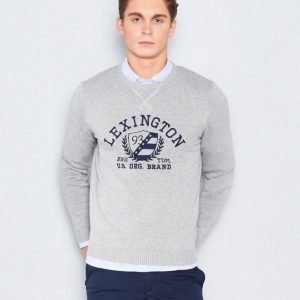 Lexington Nelson Knitted Sweatshirt Heather Grey Melange