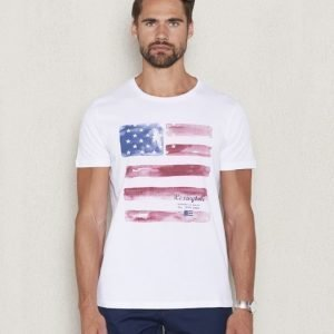 Lexington Simon Printed Tee Bright White