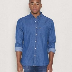 Lexington Taylor Poplin Shirt Medium Denim