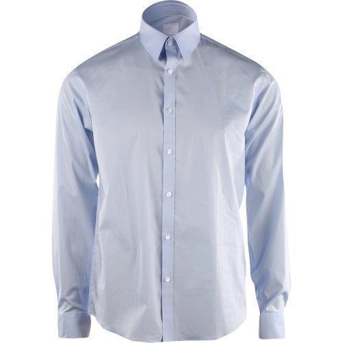 Lindbergh Men's Stretch Shirt L/S Light Blue