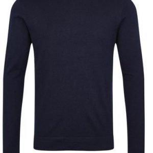 Lindbergh Merino knit o-neck Blue