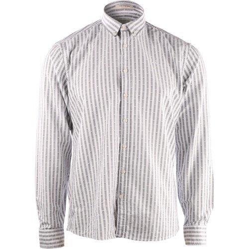 Lindbergh Striped Oxford shirt l/s Black