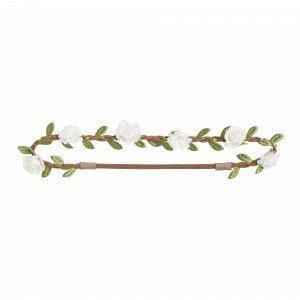 Lindex Hiuspanta Kukkakoristeella Valkoinen
