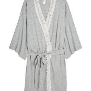 Lindex Kimono Tencel Sekoitetta Harmaa