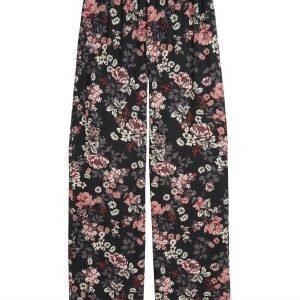 Lindex Kukkakuvioiset Pyjamahousut Musta