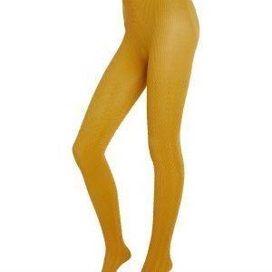 Lindex Palmikkosukkahousut Keltainen