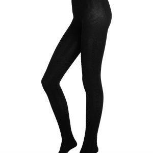 Lindex Palmikkosukkahousut Musta