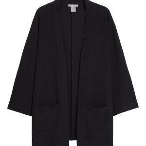 Lindex Pehmeä Kimonotakki Musta