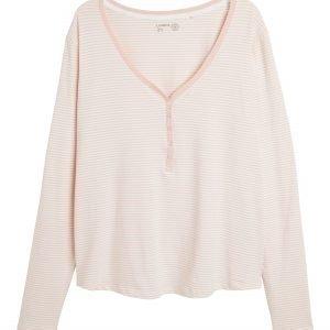 Lindex Pitkähihainen Pyjamapusero Vaaleanpunainen
