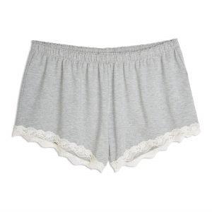 Lindex Pyjamashortsit Tencel Sekoitetta Harmaa