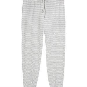 Lindex Raidalliset Pyjamahousut Harmaa
