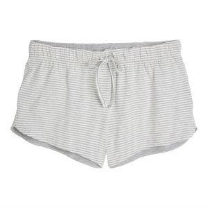 Lindex Raidalliset Pyjamashortsit Harmaa