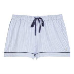 Lindex Siniraitaiset Pyjamashortsit Sininen