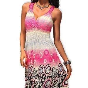 Lisa pinkki mekko (plus size)