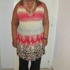 Lisa punainen mekko (plus size)