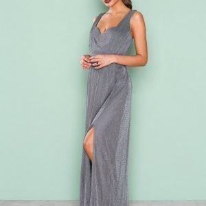 Little Mistress Glitter Maxi Dress Maksimekko Slate