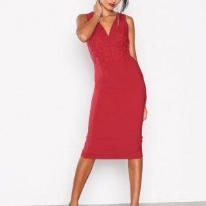 Little Mistress Lace Back Detail Dress Kotelomekko Red