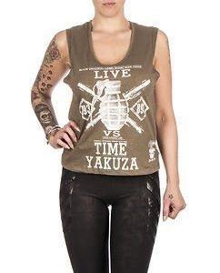 Live Vs. Time Top Khaki