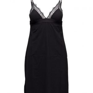 Love Stories Flemming Evergreen Cover Up Top Slip Dress Black Knit body