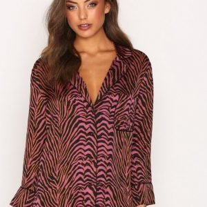 Love Stories Jude L Coverup Top Pyjama Zebra