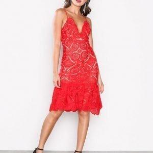 Love Triangle Atomic Frill Hem Dress Kotelomekko Red