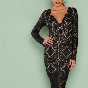 Love Triangle Atomic Midi Dress Kotelomekko Black