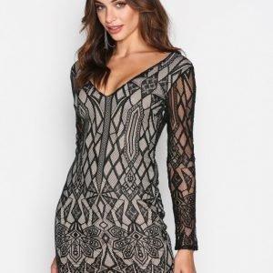 Love Triangle Deco Diamond Mini Dress Kotelomekko Black