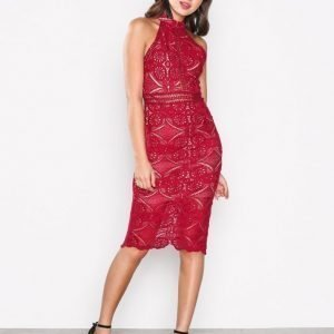 Love Triangle Faithful Midi Dress Kotelomekko Red