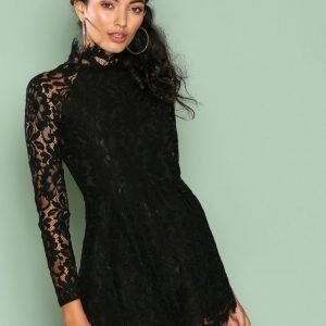 Love Triangle Faithfull Lace Playsuit Black