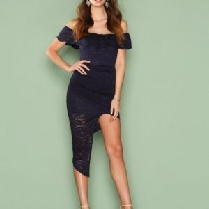 Love Triangle Off Shoulder Lace Dress Kotelomekko Navy